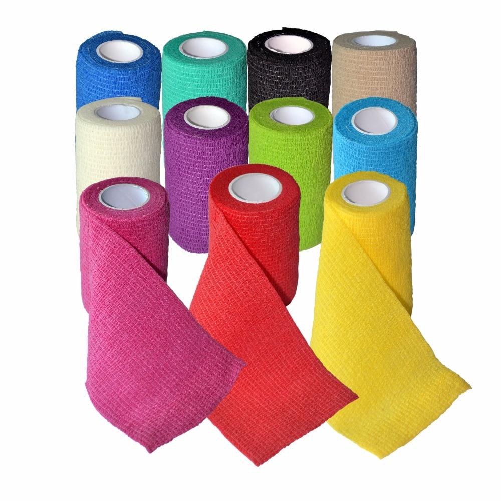 24pcs/Lot 7.5cm x 4.5m Self Adhesive Adherent Wrap elastic Nonwoven Cohesive Bandage<br>