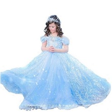 Christmas Girl Dress Princess Dresses Cinderella Dresses Anna Elsa Cosplay Costume Kids Party Dress Baby Girls Clothes