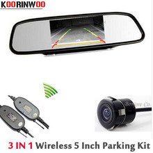 Buy KOORINWOO Wireless Parking Assistance Car Rear View Camera Auto Reversing cam safe HD TFT LCD Car Monitor Mirror Video RCA for $39.99 in AliExpress store