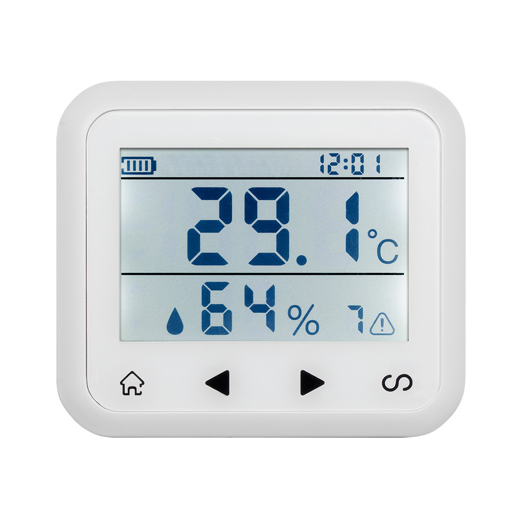 wireless LED Display Adjustable temperature and humidity Alarm sensor Detector protect the personal and property safety.<br>