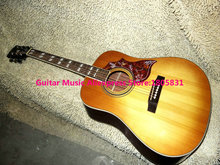 High Quality Newest Lemon Hummingbird Acoustic Guitar wholesale guitars free shipping