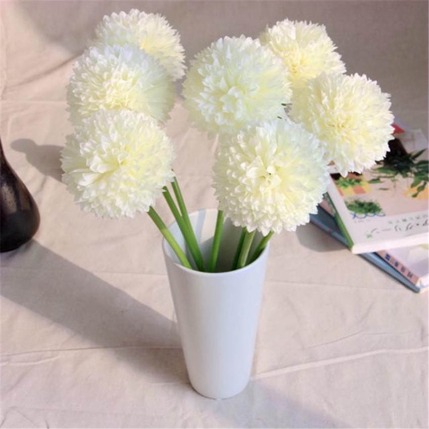 High Quality 5pcs Lavender Ball Artificial Silk Flowers Bouquet Home Wedding Party Decor(China (Mainland))