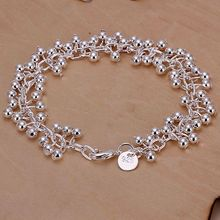 SLH017 Wholesale silver plated bracelet, Factory price fashion jewelry Purple Bracelet /auiajlpa