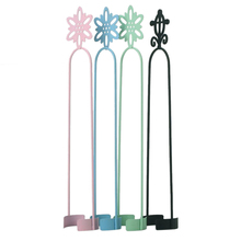 New 1PC Candy Colors Metal Wrought Iron Black Pillar Candle Holder Decor Candlestick Ornaments Tool(China)