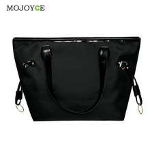 Waterproof Nylon and Leather Women Handbag Women Messenger Bags Handbag Famous Brand Large Tote Hobos Ladies Crossbody Bag
