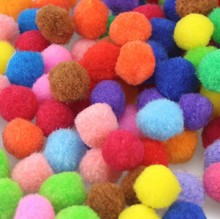 Buy 200Pcs Soft Pompom Balls Pom Pom Early Learning Creative Handmade Craft Scrapbooking DIY Sewing Doll Accessories Home Decoration for $1.13 in AliExpress store