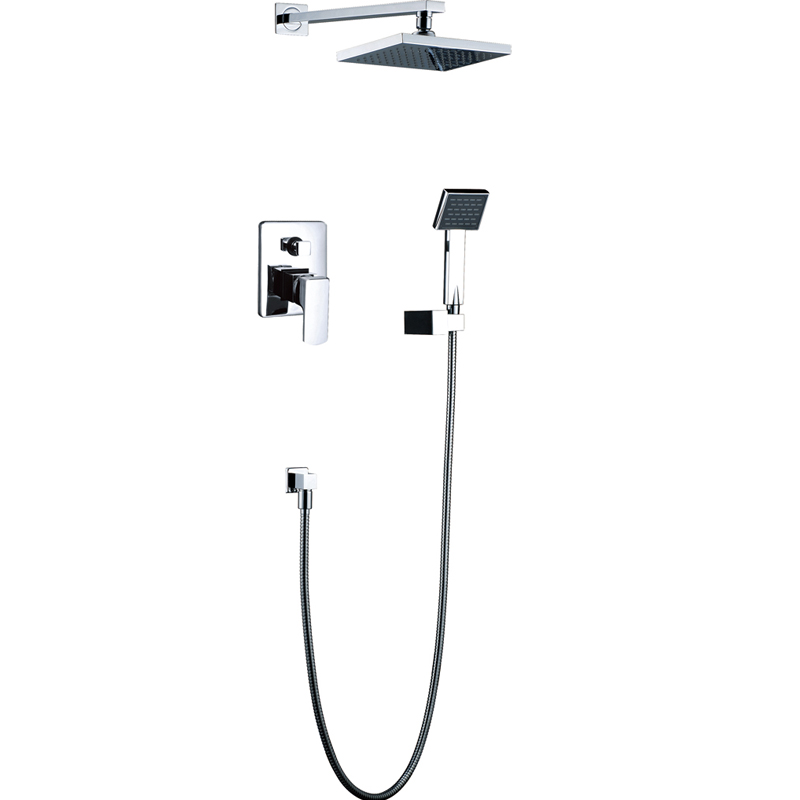 Shower Set Torneira 8 inch Shower Head Bathroom Rainfall Bath Tub Chrome Sink Faucets,Mixers &amp; Taps<br><br>Aliexpress