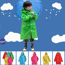 Cartoon Stylish Raincoat for Children Waterproof Student Rainwear Animal-shaped Raincoat Kids Unisex Rainsuit boys girls poncho