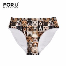 FORUDESIGNS Seamless Women Panties Many Animal Pet Dogs Pattern Underwear for Ladies Sexy String Transparent Panties Lady Panty(China)