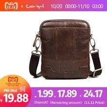 73b4062526f Cobbler Legend Famous Brand Messenger Bag For Men New Genuine Leather  Shoulder Bags Crossbody Bags Male Vintage Slim   Light