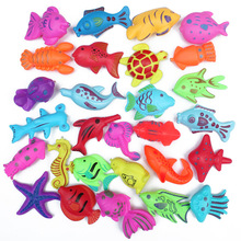 30 pcs/Lot kids children Magnetic Fishing Toys Game Plastic Floating Fish Toy Baby Boy Girl Bath toy