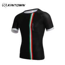 XINTOWN Italy Soccer Jersey Short Sports Shirts Men's Running Cycling T-Shirts Quick Dry Short Sleeve Jersey Cycling jerseys(China)
