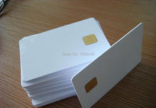 Wholesale (100PCS/lot)  AT24C02 Chip Contact Smart Blank Card with 2K Memory Printable By Zebra Plastic Card Printer