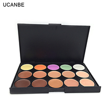 2017 UCANBE Brand High Quality Professional 15 Colors Concealer Facial Face Cream Care Camouflage Makeup Base Palette Set Nude
