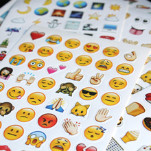 10pcs mixed different Classic  emoji stickers  (48 Die Cut ) sticker for notebook fun message Vinyl*funny*creative
