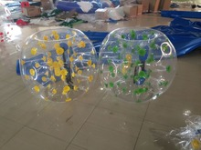 2PCS/lot 1m PVC Inflatable Bubble Soccer Football Ball with a feet pump,Zorb Ball hamster ball, Bumper Ball for team building(China)