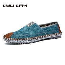 Canvas Shoes Men Comfortable Light Mens Breathable Ultralight Lazy Shoes Men Jeans Canvas Casual Shoes Men Flats Loafer Slip On