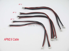 8pcs APM 2.6 Flight Control Cable (DF13 4/5/6 Position Connector 20 cm) 4pin& 5pin&6pin(China)