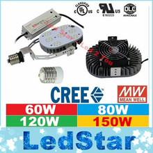DLC UL Retrofit Kits Led Light E40 E39 E27 E26 60W 100W 120W 150W LED Street Lights CREE Chip MeanWell Driver AC 110-277V