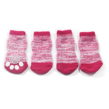 Armi store6081038 Color Braided Wire Dog Sock Warm Dogs Latex Skid-Proof Socks Pet Clothing Shoes