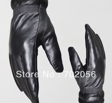 unisex winter womens mens Genuine Leather gloves skin gloves LEATHER GLOVES 10pairs/lot #3128