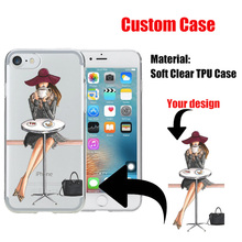 Custom DIY Print Soft TPU Silicone Personalized Phone Case Cover Coque Para Shell Funda Cellular for Apple iphone 6 6s 7 Plus