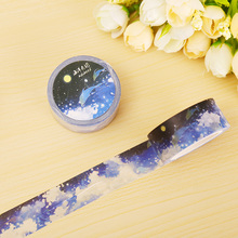 2cm*10m Ocean cloud cluster washi tape DIY decorative scrapbooking planner masking tape adhesive tape label sticker stationery