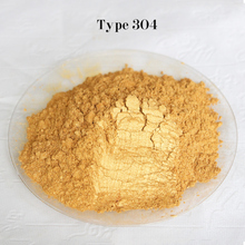 Type 304 Gold  Pigment Pearl powder dye ceramic powder paint coating Automotive Coatings art crafts coloring for leather