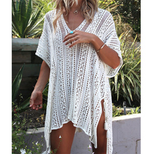 shermie Women beach dress Sexy crochet beach cover up Women Swimwear Summer Outings Beach Swim Suit Cover Ups Women Beach Wear(China)