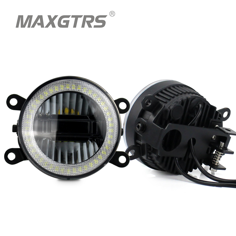 2x Universal 3.5 inch Car Light LED Bulb Halo Rings Safety Driving Angel Eyes DRL Auto Fog Light Assembly For Honda Toyota<br>