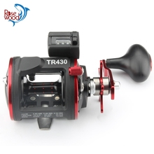 RoseWood Fishing Trolling Reel TR430 With Counter Line Device Drum Fishing reel Vessel Trolling Boat Baitcast Right Hand Wheel(China)