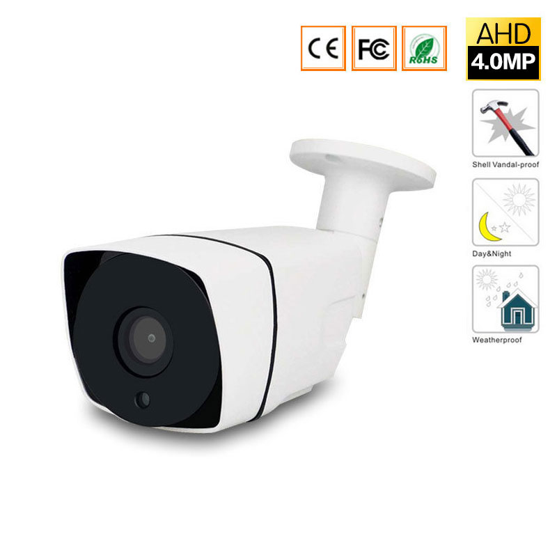 AHD Camera 4MP CCTV Bullet Camera Waterproof Metal housing 3.6mm Lens 4 Megapixel CCTV Camera for AHD DVR Surveillance System<br>