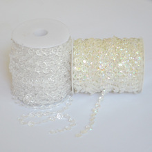 1m Iridescent Garland Diamond Strand Acrylic Crystal Bead Shimmer Wedding Party Hanging Lighting Window Door Curtain Decorations
