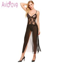 Buy Avidlove Women Sexy Babydoll Lingerie Hot Erotic Slips Long Dress Nightgown Teddy Exotic Underwear Mesh Intimates Exotic Apparel