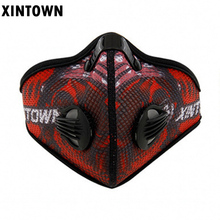 XINTOWN Pm2.5 Women Men Sports Cycling Masks Carbon Filters Mask Dust Smog Protective Half Face Mask Neoprene Mask