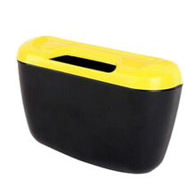 Newest Fashion Mini Car Auto Rubbish Dustbin/Trash Can Garbage Dust Case Box/Car Storage Case/Car Trash Bin yellow and black
