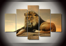 HD Printed Animal Picture King Of The Prairie Wall Art Lion Painting Canvas Print Room Decor Canvas Printed Poster Free Shipping