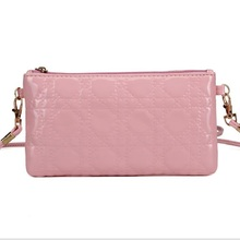 Fashion Designer Ladies' Shoulderain Bag Ch Wallet PU Leather Clutch Evening Bag Purse for Women Handbag Pink Color