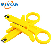 ZK20 Portable 2pcs/lot Mini Wire Stripper Knife Network Cable Crimping Pliers Hand Tool Stripping Wire Cutter Multi Tools(China)