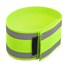 Practical Reflective Elastic Cycling Running Safety Alert Armlet Visibility Reflective Trousers Belt(China)