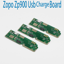 New Original usb plug charge board For ZOPO ZP900 Mobile Phone Flex Cables charging module Microphone cell phone Mini USB Port(China)
