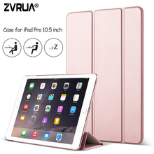 Case for New iPad Pro 10.5 inch 2017, ZVRUA YiPPee Color Ultra Slim PU leather Smart Cover Case Magnet wake up sleep for Pro10.5(China)