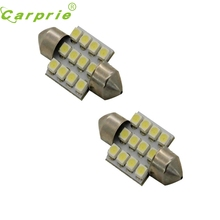 New Arrival  2x Aqua Blue 31mm 12-SMD DE3175 DE3022 LED Bulbs For Car Interior light