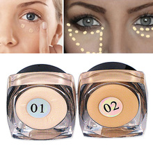 2017 High Quality Pro Make Up Eye Cosmetics Waterproof Whitening Dark circles Pores Full Cover Mini Eye Lip Concealer Palette(China)
