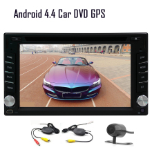 "Android 5.1 APP Radio Car DVD Stereo CD CAM Sub 6.2"" GPS Auto Autoradio OBD2 Receiver Capacitive Video 2Din BT"