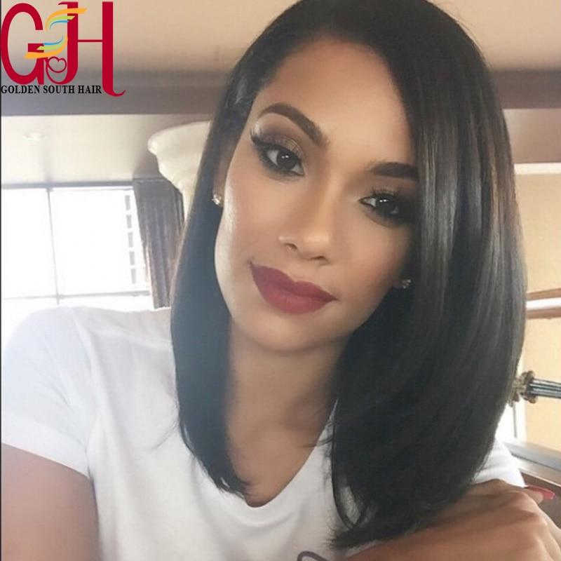 7A Grade Lace Front Wigs 100% Brazilian Virgin Human Hair Short Bob U Part Wig Glueless Full Lace Wig For Black Women Freeship<br><br>Aliexpress