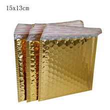 13*15cm+4cm Small CD/CVD Packaging Shipping Bubble Mailers gold paper Padded Envelopes Bag Bubble Mailing Envelope Bag