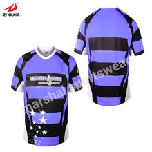 top quality OEM any color name number stripes design purple custom soccer jersey top quality full sublimation print(China)