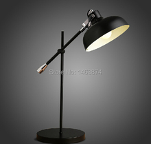 American country style desk computer desk Iron Industry saving lamp eye learn to read, Material: iron, E27, AC110-240V