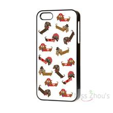 For iphone 4/4s 5/5s 5c SE 6/6s 7 plus ipod touch 4/5/6 back skins cellphone cases cover NEW DESIGN CUTE SAUSAGE DOG DACHSHUND(China)